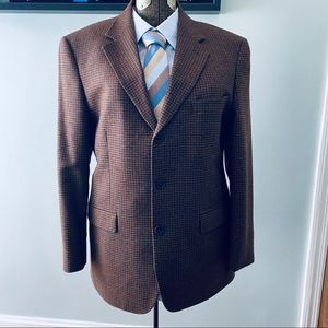 Brooks Brothers brown houndstooth sport coat